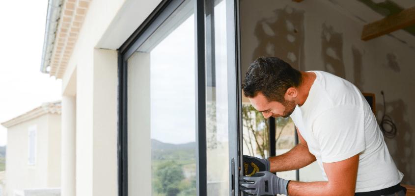 Installer une baie-vitrée